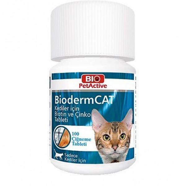 BIO PETACTIVE BIODERM CAT BIOTIN&ÇİNKO 30 gr
